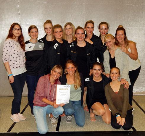 """Die erfolgreiche """"Dancelicious""""-Small-Group am 14.10.2017 in Dinslaken (Foto: Gibson)"""