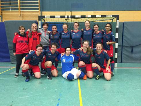 Das Futsalicious Ladies-Siegerteam vom Spiel gegen die Futsal Panthers aus Köln am 07.10.2017 (Foto: Fritz)