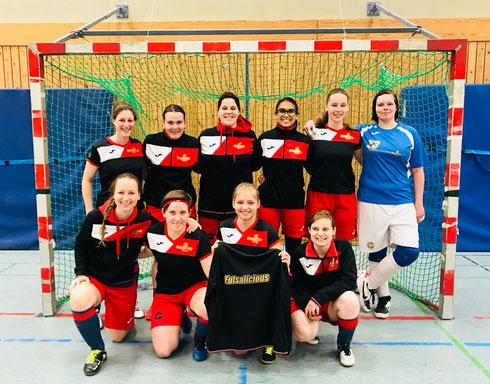 Das Futsalicious Ladies-Team beim Testspiel gegen den GTSV Essen (Foto: Fritz)