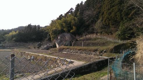 大きな岩w