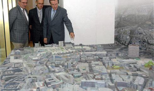 ZPrinter 3D Druck: Das 3D-Modell der Ruhr-Metropole wurde mit einem ZPrinter 3D-Drucker angefertigt. Bild:  Peter Prengel