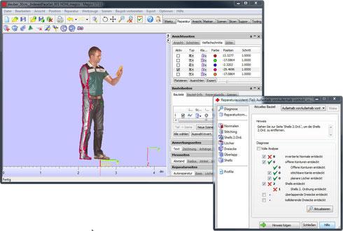 Figuren 3D Druck Software Materialise Magics RP