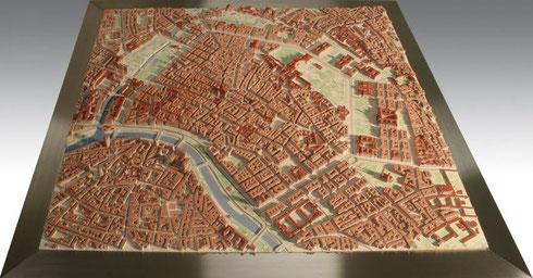 ZPrinter 3D Druck, Stadtmodell Wien. Bild: www.3dmodell.at