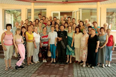 Учёба су-джок у проф Пак 2008г