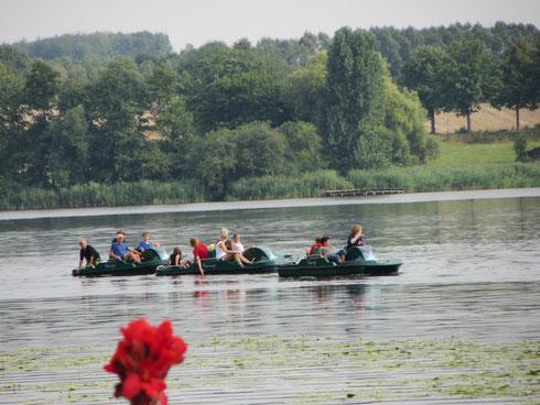 Tretboot fahren auf dem Seeburger See