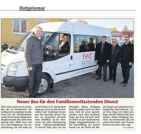 HNA - Ausgabe Hofgeismar, 28.11.13