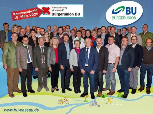 Unsere BU-Kreistagskandidaten mit unserem Landratskandidaten Raimund Kneidinger