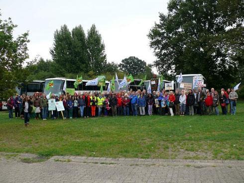 130 Teilnehmer aus dem Kreis Rotenburg trugen dazu bei, dass die Umzingelung gelang