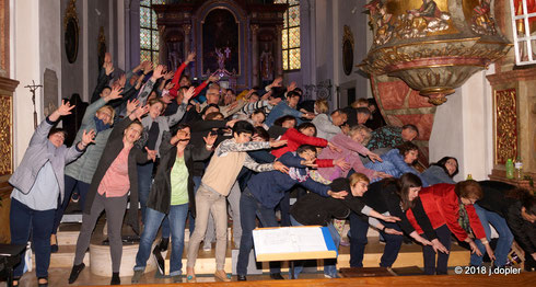 Generalprobe in der Pfarrkirche Waizenkirchen