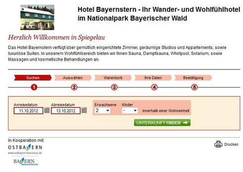 Bayernstern online buchen
