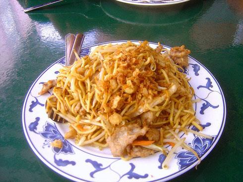 Хрустящий лук в лапше китайской