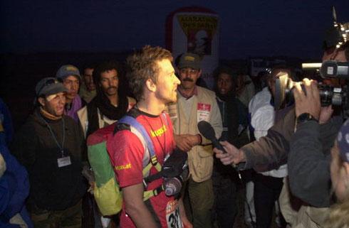 Im Ziel bei der Königsetappe vom Marathon des Sables