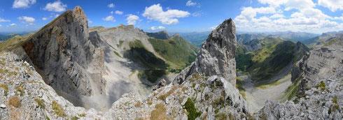 Les aiguilles d'Ansabère, haut lieu de randonnée et d'escalade