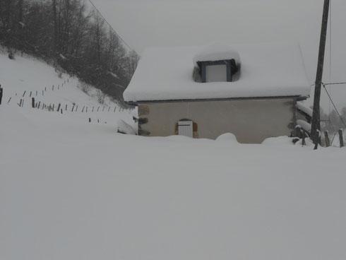 Le gîte Capdarest en hiver