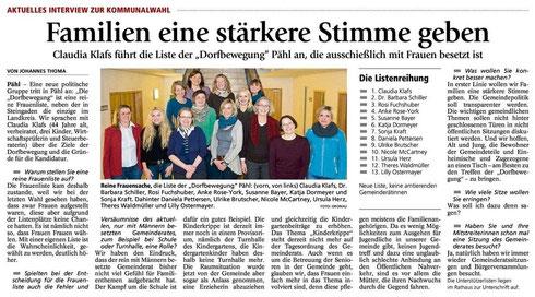 Weilheimer Tagblatt am 22.01.2014