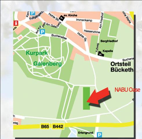 Lageplan zur NABU-OASE