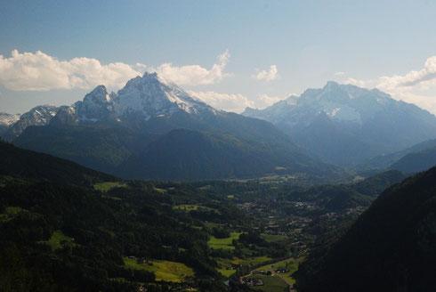 Blick auf Berchtesgaden vom Aussichtspunkt Lärchecker Wand. © stepro.jimdo.com