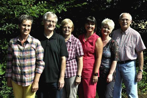 (von links nach rechts): Annelore Palme, Hubert Westhoff, Gerda Nies, Birgit Kress, Beatrice Fink, Rainer Nies