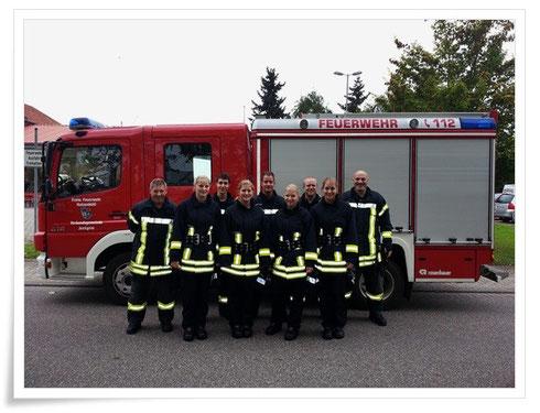 v.l.n.r: Werner Huppert, Eva Henigin, Alexander Wünstel, Christina Werling, Philipp Werling, Lena Hoffmann, Marco Hermann, Antonia Werling, Elmar Kaufmann