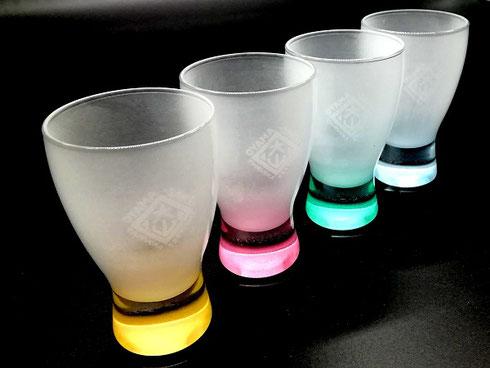大山新酒・酒蔵まつり 擦り加工 文字が浮かび上がるオリジナルグラス
