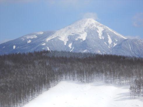霧ヶ峰カボッチョ(山名)から見た美しい蓼科山