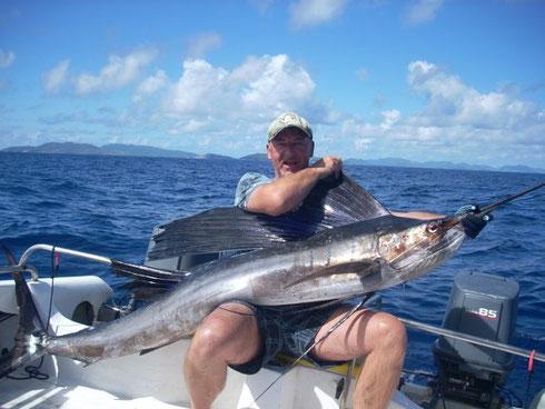 Seychellen angeln Sail zeigen Okt. 2013