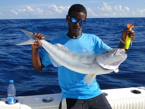 Seychelles fishing Jobfish Sandro Jan. 2014