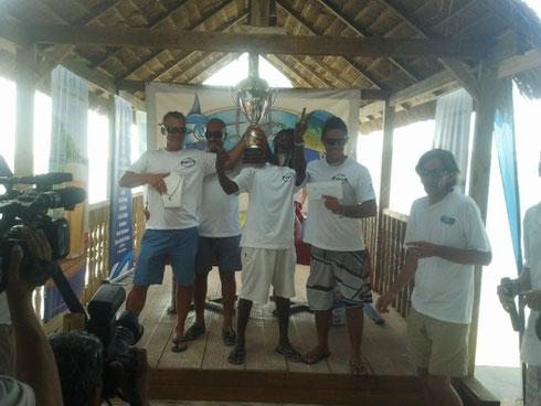 Seychellen angeln La Digue Sieger Okt. 2013