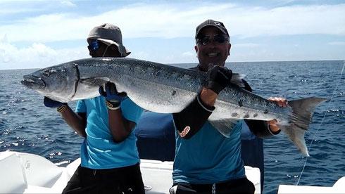 Seychelles fishing Barracuda Dec. 2013