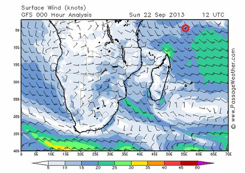 Seychellen angeln Wind