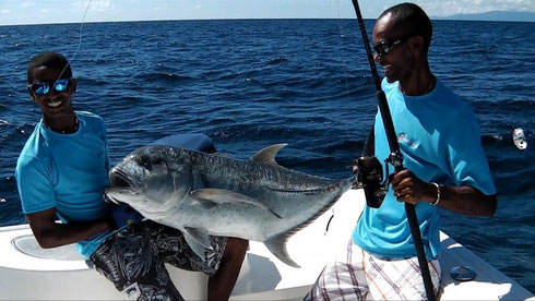 Seychelles fishing Giant Trevally