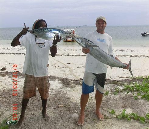 Seychellen angeln Wahoo Dez. 2014