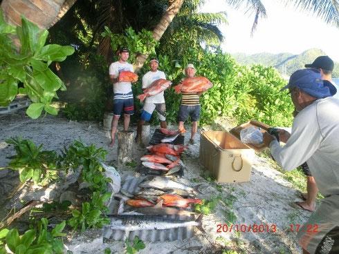Seychellen angeln Fang Grundangeln Okt. 2013