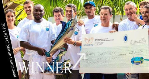 Seychelles fishing tournament winners Jan. 2014