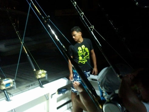 Seychellen angeln Turnier nachts Jan. 2014
