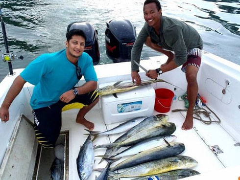 Seychellen angeln Turnierfang Dez. 2014