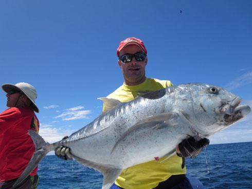 Seychelles fishing GT Seb 1 Oct. 2013