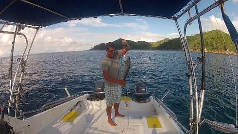 Seychellen angeln Jobfish Nov. 13