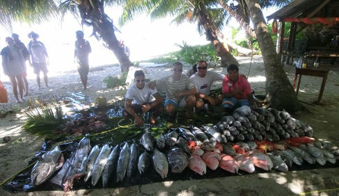 Seychelles fishing bottom fishing massive ctach
