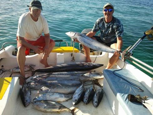 Seychellen angeln Tagesfang Trolling Okt. 2013