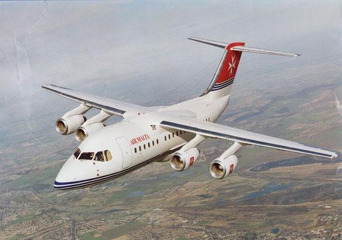 Die RJ70 hat sich bei Air Malta trotz Detailanpassungen nicht bewähren können/Courtesy: British Aerospace