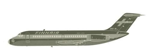 """Dieses """"Negativbild"""" zeigt eindrucksvoll die klaren Linien des Finnair-Markenauftritts/Courtesy: Finnair"""