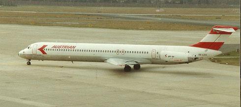 MD-82 der Austrian Airlines/Privatsammlung