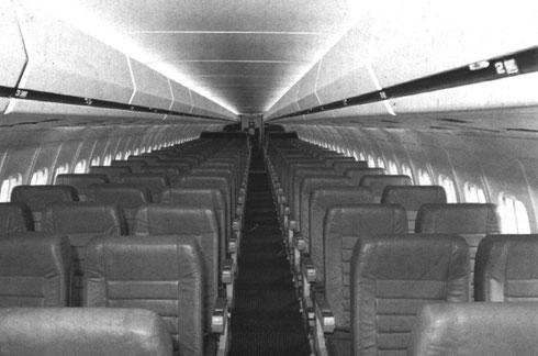 Sehr hohe Passagierakzeptanz mit nur fünf Sitzplätzen pro Reihe/Courtesy: McDonnell Douglas