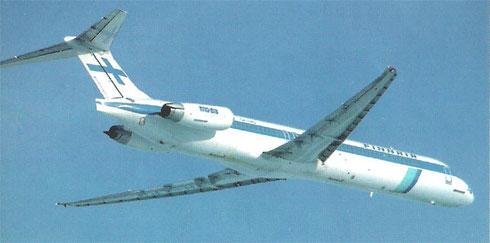 Die schlanke Erscheinung der MD-83 ist hier eindrucksvoll ersichtlich/Courtesy: Finnair