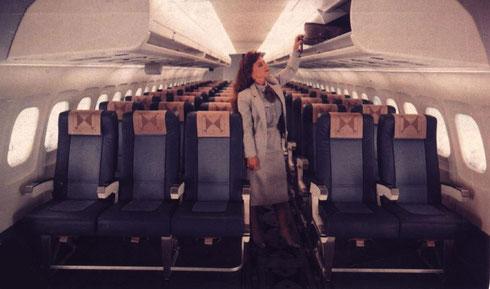 Die MD-90 spiegelt kabinenseitig die 1990er wider/Courtesy: McDonnell Douglas