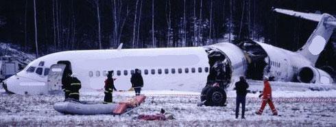 Leider gehören auch Unglücke zum Themenbereich des zivilen Luftverkehrs...