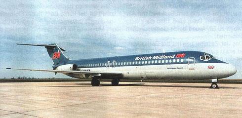 Klassische Eleganz einer Douglas DC-9-32 der British Midland/Courtesy: British Midland