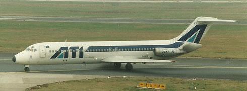 Auch die ATI setzte viele Jahre die DC-9-32 ein/Privatsammlung