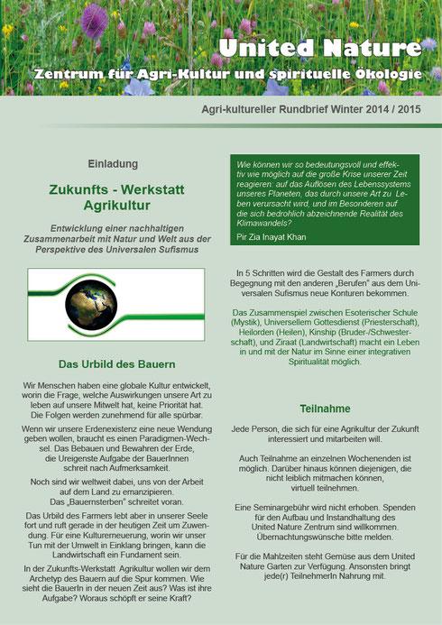 Zukunftswerkstatt Agrikultur - Entwicklung einer nachhaltigen  Zusammenarbeit mit Natur und Welt aus der Perspektive des Universalen Sufismus